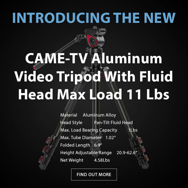 CAME-TV Aluminum Video Tripod