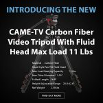 CAME-TV - New - Carbon Fiber Video Tripod With Fluid Head