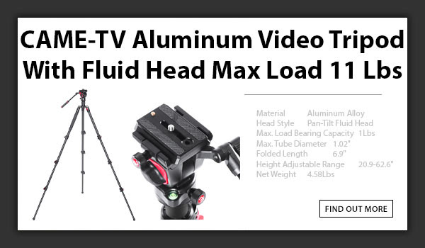 CTV Aluminum Video Tripod