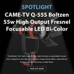 CAME-TV - Spotlight - Boltzen Bi-Color Q-55s LED Fresnel LED Light