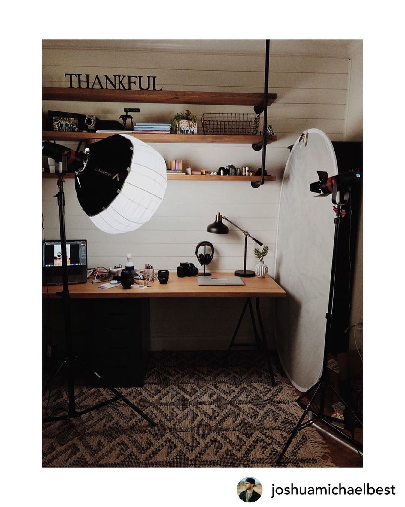 Instagram Joshuamichaelbest Shared This Pic Of His Home Office Lighting Setup Using Two Of Our Came Tv Boltzen 55w Led Lights Cametv Boltzen Led Ledlight Fresnel Fresnellight Cametvboltzen Boltzenled Came Tv Blog