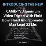CAME-TV - New - Aluminum Video Tripod With Fluid Bowl Head And Spreader