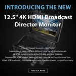 "CAME-TV - New - 12.5"" 4K HDMI Broadcast Director Monitor"