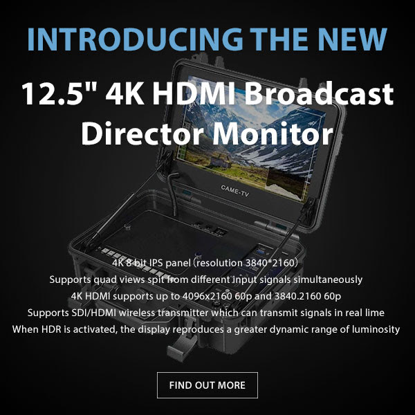 CAME-TV 12.5 4k HDMI Director Monitor