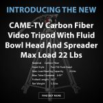 CAME-TV - New - Carbon Fiber Video Tripod With Fluid Bowl Head And Spreader