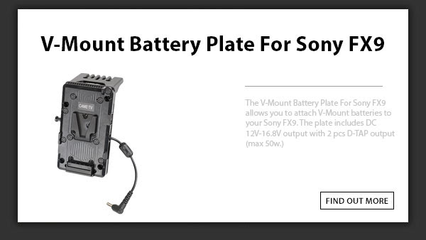 CAME-TV Sony Fx9 Battery Plate