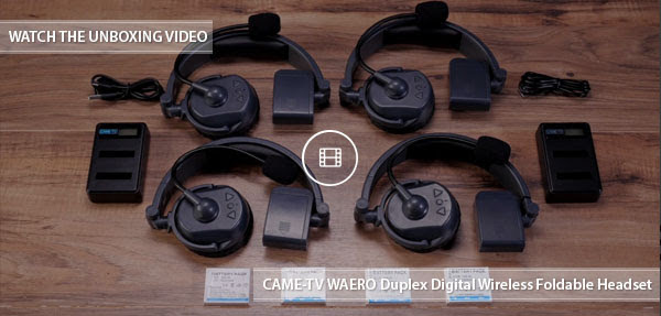 CAME-TV Waero Headsets