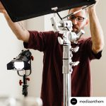 INSTAGRAM: BTS pic of @mediaanthem using one of our CAME-TV Boltzen 30w LED Fresnel Light!
