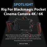 CAME-TV - Spotlight CAME-TV Rig For Blackmagic Pocket Cinema Camera 4K / 6K With Wooden Handles