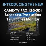 CAME-TV - New PRO 12G-SDI Broadcast/Production 17.3 Inches Monitor