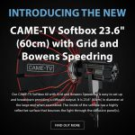 "CAME-TV - New Softbox 23.6"" (60cm) with Grid and Bowens Speedring"
