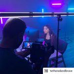 INSTAGRAM: BTS pic of @tetheredandbrave on set using our Andromeda Tube Lights on a recent shoot!  #cametv #andromeda #ledlight #tubelight #led #ledtubelight #cametvandromeda #tube #lighting #onset