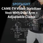 CAME-TV - Spotlight CAME-TV 2.5-5kg Load Pro Camera Video Stabilizer Vest With Dual Arm + Adjustable Clamp