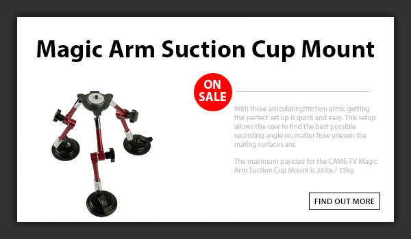 CAME-TV Magic Arm Video Suction Cup Mount