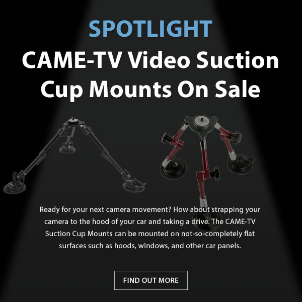 CAME-TV Video Suction Cup Mount
