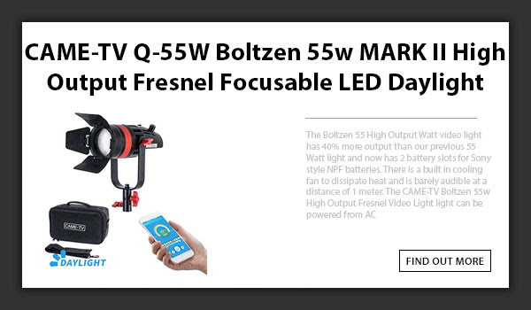 CAMETV Boltzen Q55 LED Fresnel Light MKII