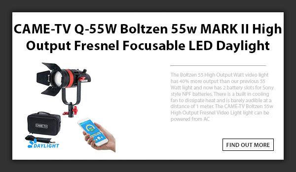 CAMETV Boltzen Q55 LED Fresnel Light MKII