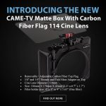 CAME-TV - New - Matte Box With Carbon Fiber Flag For 114mm Cine Lenses