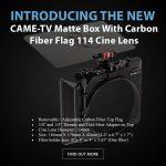 CAME-TV - New - Matte Box With Carbon Fiber Flag For 114mm Cine Lenses