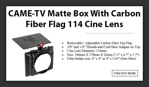 CAMETV Mattebox 114 Cine Lens