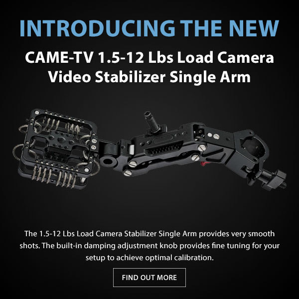 CAME-TV GS12 Video Stabilizer Single Arm