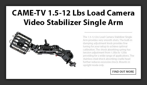 CAMETV GS12 Video Stabilizer Single Arm