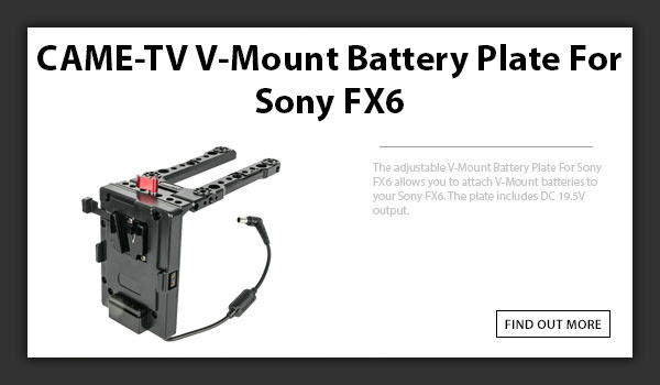 CAMETV V-Mount Sony Fx6 Battery Plate