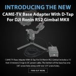 CAME-TV - New Product - Base Adapter With D-Tap For DJI Ronin RS2 Gimbal MKII