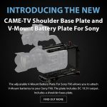 CAME-TV - New Product - Shoulder Base Plate and V-Mount Battery Plate For Sony FX6
