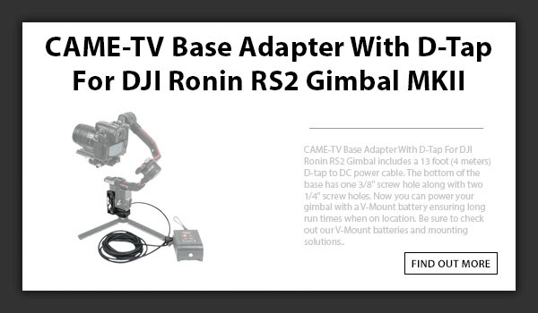 CAMETV DJI Ronin RS2 Base Adapter MKII