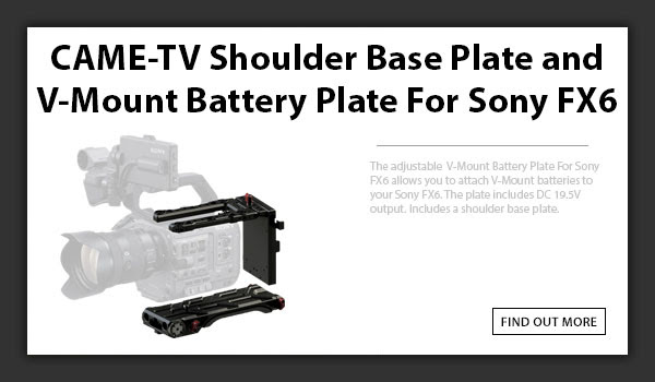 CAMETV Sony FX6 Shoulder Base Plate
