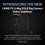CAME-TV - New Product - 2-8kg DSLR Rig Camera Video Stabilizer