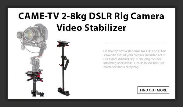 CAMETV 2-8kg DSLR Rig Camera Video Stabilizer