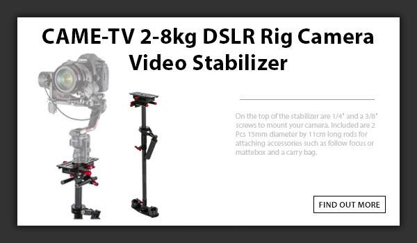 CAMETV 2-8kg DSLR Rig Camera Video Stabilizer