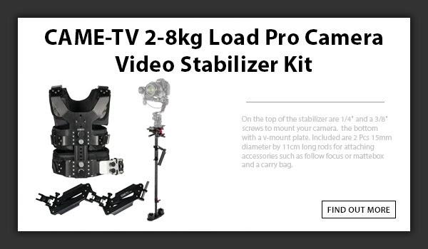 CAMETV 2-8kg Load Pro Stabilizer Kit