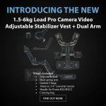 CAME-TV - New Product - 1.5-6kg Load Pro Camera Video Adjustable Stabilizer Vest + Dual Arm