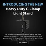 CAME-TV - New Product - Heavy Duty C-Clamp Light Stand