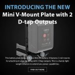 CAME-TV - New Product - Mini V-Mount Plate with 2 D-tap Outputs