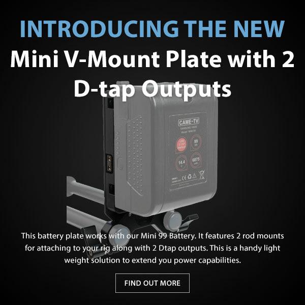 CAME-TV Mini 99 V-Mount Plate