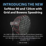 CAME-TV - New Product - Softbox 90 and 120cm with Grid and Bowens Speedring