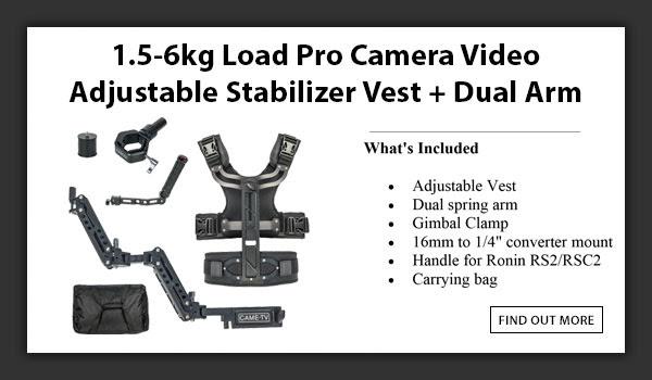 CAMETV 1.5kg-6kg Load ProStabilizer And Vest