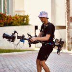 INSTAGRAM: @enmanuelzabala18 using our CAME-TV Stabilizer and Vest on a music video shoot! Thanks for the support!  #cametv #stabilizer #filmmaking #steadicam #onset #musicvideo #camervstabilizer #procarbonsnap