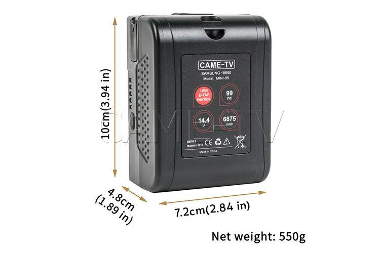 CAME-TV Mini-99 V-Mount Battery