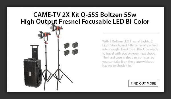 CAME-TV boltzen 55w 2pcs travel kit Bi-Color