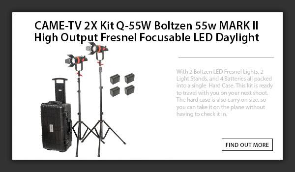 CAME-TV boltzen 55w 2pcs travel kit Daylight