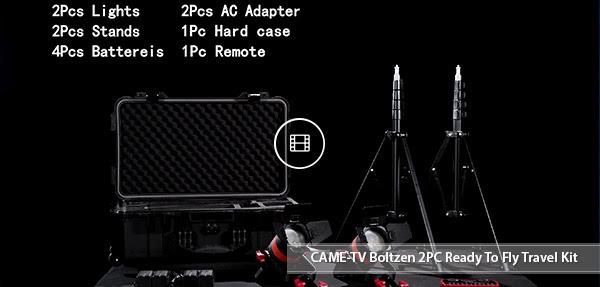 CAME-TV boltzen 55w 2pcs travel kit Video