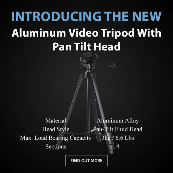 CAME-TV Aluminum Fluid Head Tripod