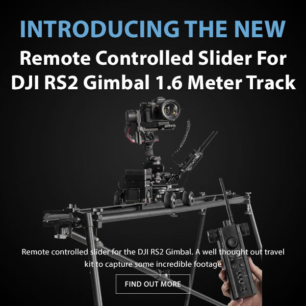 CAME-TV Remote Controlled Slider For DJI RS2 Gimbal 1.6 Meter Track