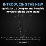 CAME-TV - New Product - Quick Set Up Compact and Portable Reverse Folding Light Stand