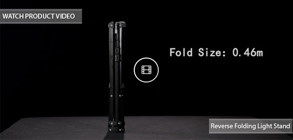 CAME-TV Reverse Folding Light Stand